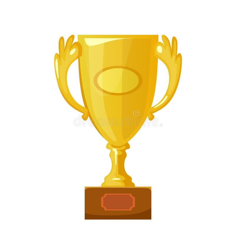 Het pictogram vectorillustratie van de trofeekop stock illustratie