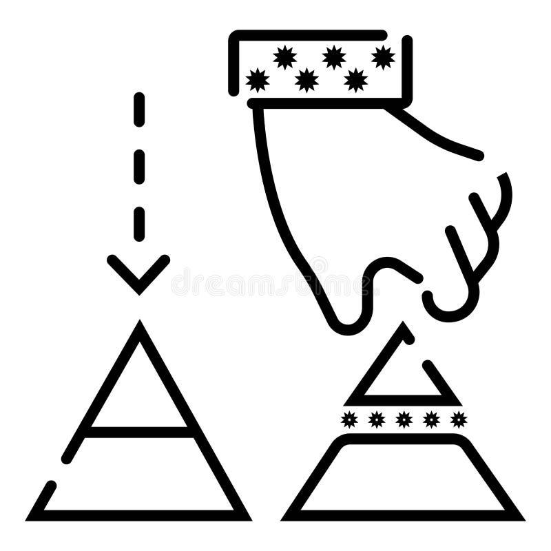 Het pictogram vectorillustratie van het praatjebericht royalty-vrije illustratie