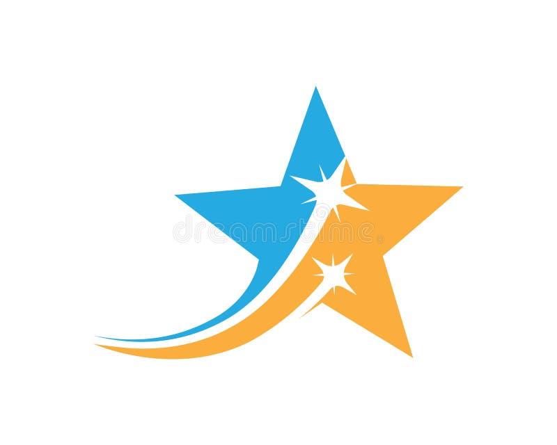het pictogram vectorillustratie van het ster sneller uitdrukkelijke embleem royalty-vrije illustratie