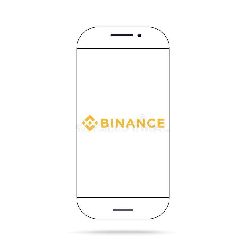 Het pictogram vectoriphone van Binancebnb cryptocurrency stock illustratie