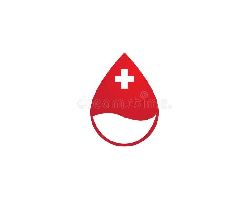 Het pictogram vectormalplaatje van het bloedembleem stock illustratie