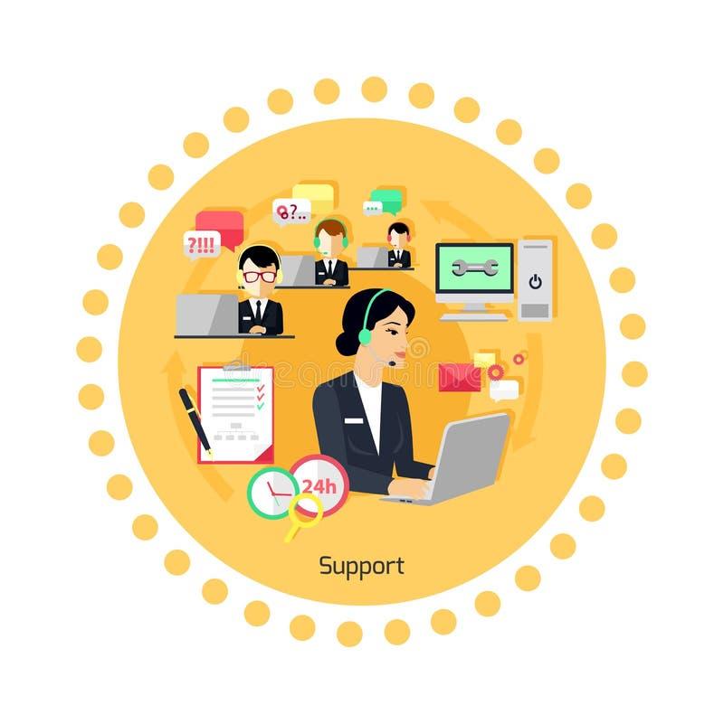 Het Pictogram Vlak Ontwerp van het steunconcept stock illustratie
