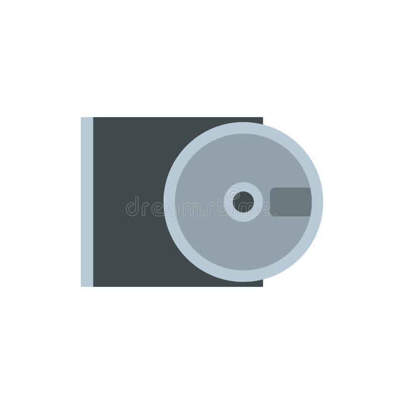 Het pictogram vlakke stijl van CD-rom en van de schijf vector illustratie