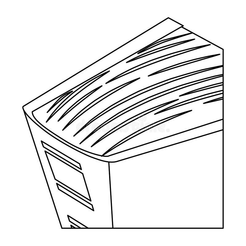 Het pictogrambeeld van de cijfer groot encyclopedie royalty-vrije illustratie
