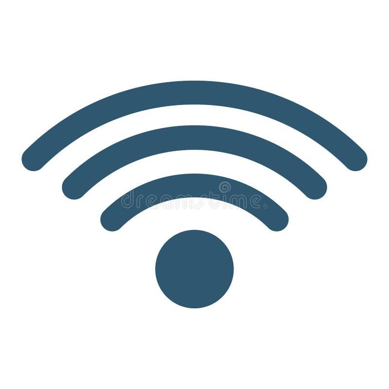 Het pictogrambeeld van het Wifisignaal stock illustratie