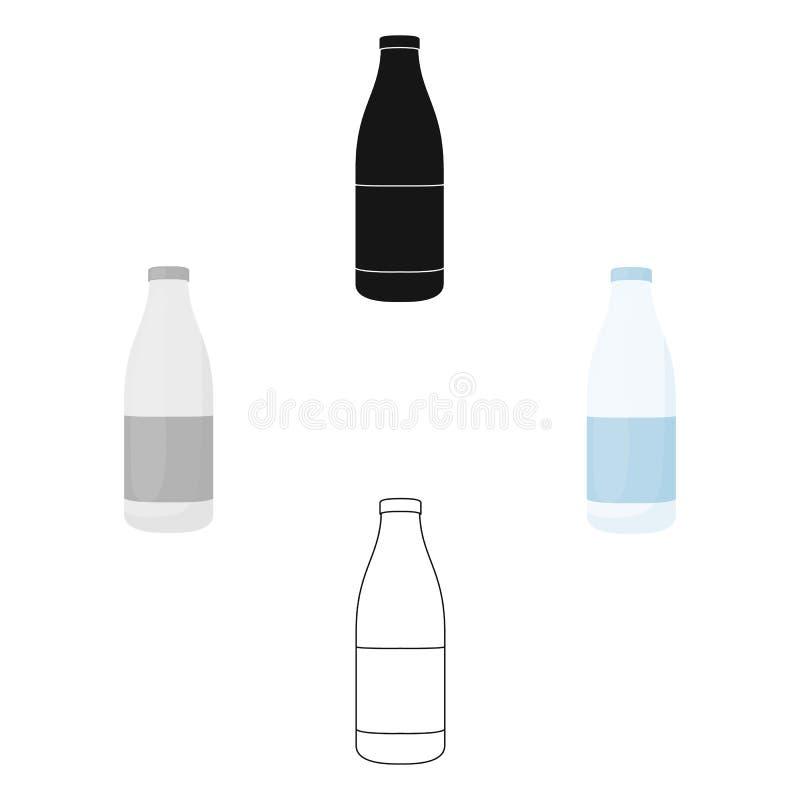 Het pictogrambeeldverhaal van de flessenmelk Enige bio, eco, biologisch productpictogram van het grote melkbeeldverhaal royalty-vrije illustratie