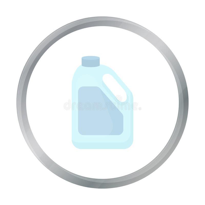 Het pictogrambeeldverhaal van de flessenmelk Enige bio, eco, biologisch productpictogram van het grote melkbeeldverhaal stock illustratie
