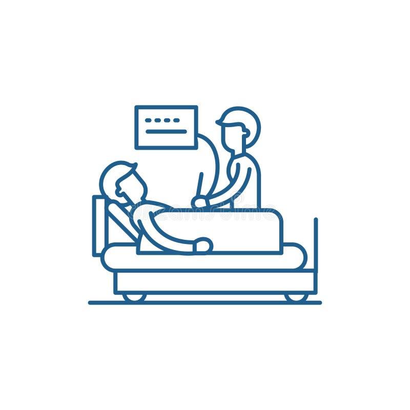 Het pictogramconcept van de algemeen medisch onderzoeklijn Algemeen medisch onderzoek vlak vectorsymbool, teken, overzichtsillust stock illustratie