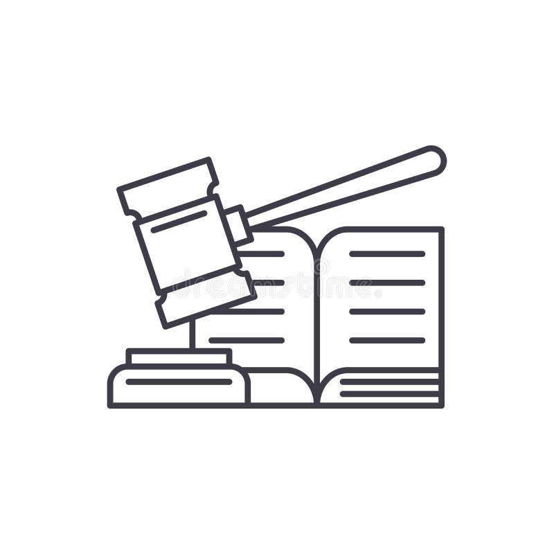 Het pictogramconcept van de besluitlijn Besluit vector lineaire illustratie, symbool, teken vector illustratie