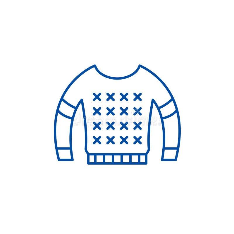 Het pictogramconcept van de blouselijn Blouse vlak vectorsymbool, teken, overzichtsillustratie royalty-vrije illustratie