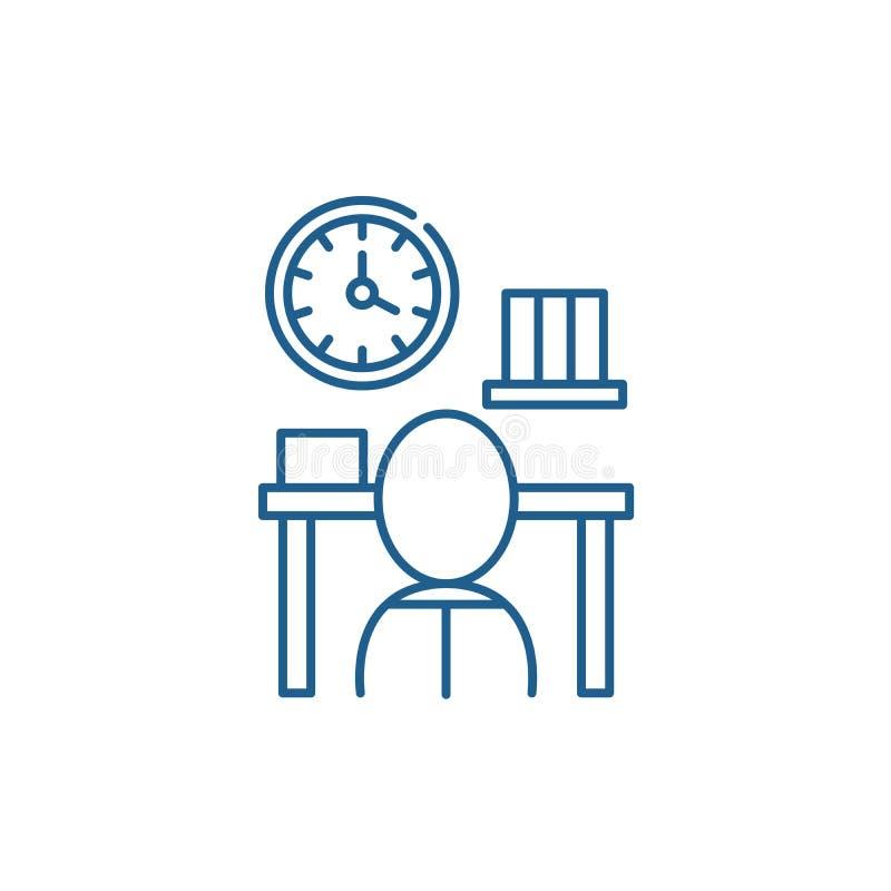 Het pictogramconcept van de bureaucratielijn Bureaucratie vlak vectorsymbool, teken, overzichtsillustratie royalty-vrije illustratie