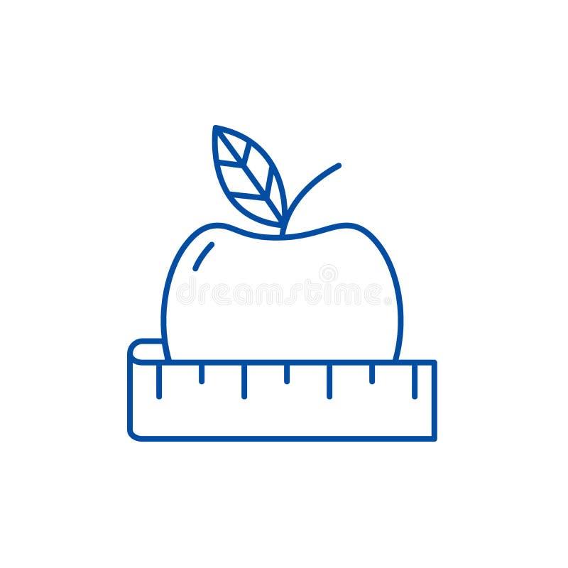 Het pictogramconcept van de dieetlijn Dieet vlak vectorsymbool, teken, overzichtsillustratie royalty-vrije illustratie