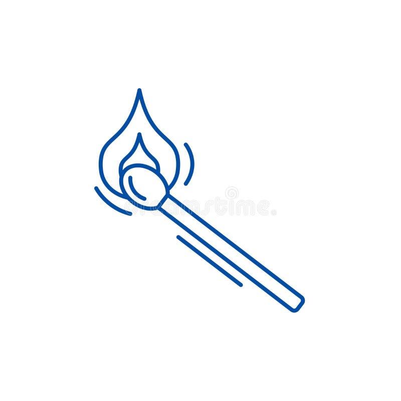 Het pictogramconcept van de gelijkelijn Gelijke vlak vectorsymbool, teken, overzichtsillustratie vector illustratie