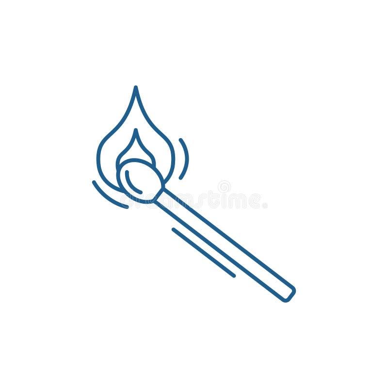Het pictogramconcept van de gelijkelijn Gelijke vlak vectorsymbool, teken, overzichtsillustratie royalty-vrije illustratie