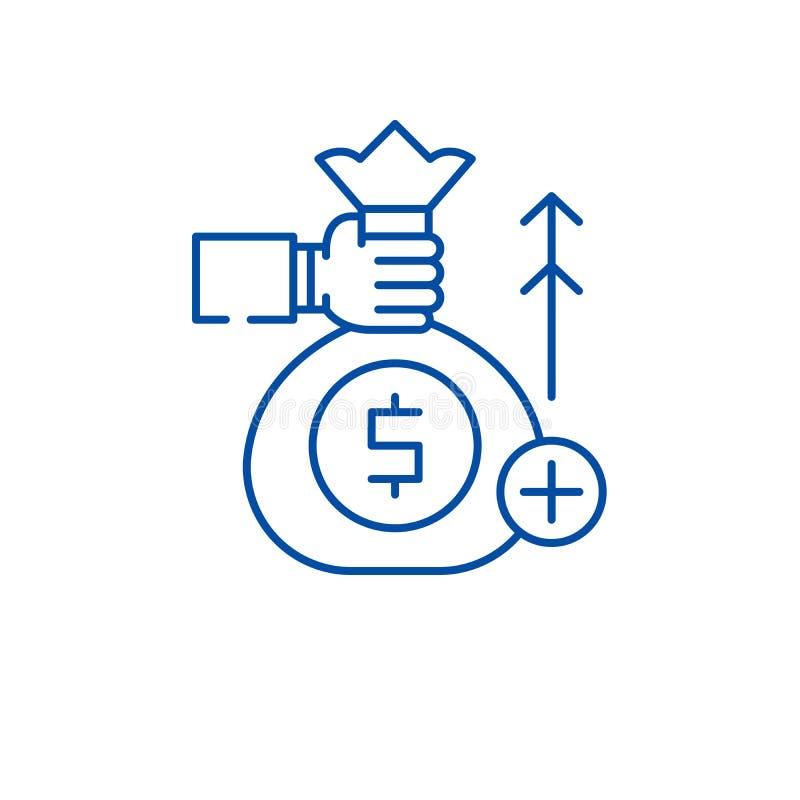 Het pictogramconcept van de liefdadigheidsinstellingslijn Liefdadigheidsinstellings vlak vectorsymbool, teken, overzichtsillustra vector illustratie