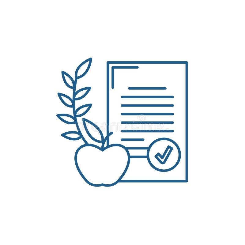 Het pictogramconcept van de uitgebalanceerd dieetlijn Uitgebalanceerd dieet vlak vectorsymbool, teken, overzichtsillustratie royalty-vrije illustratie