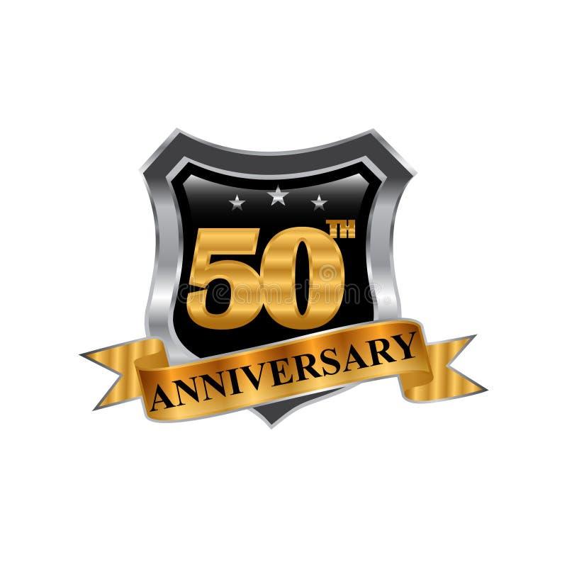 het pictogramembleem van de de 50ste jarenverjaardag Grafisch ontwerpelement royalty-vrije illustratie