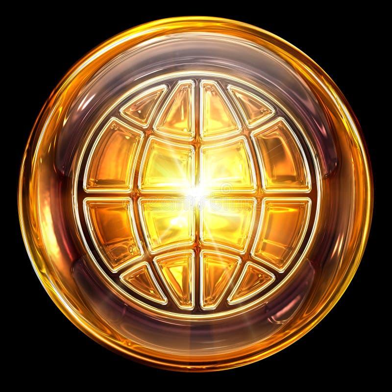 Het pictogramglas van de wereld. stock illustratie