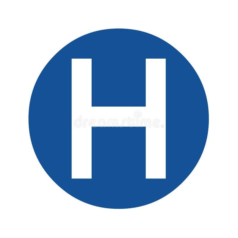 Het pictogramillustratie van het het ziekenhuissymbool royalty-vrije illustratie
