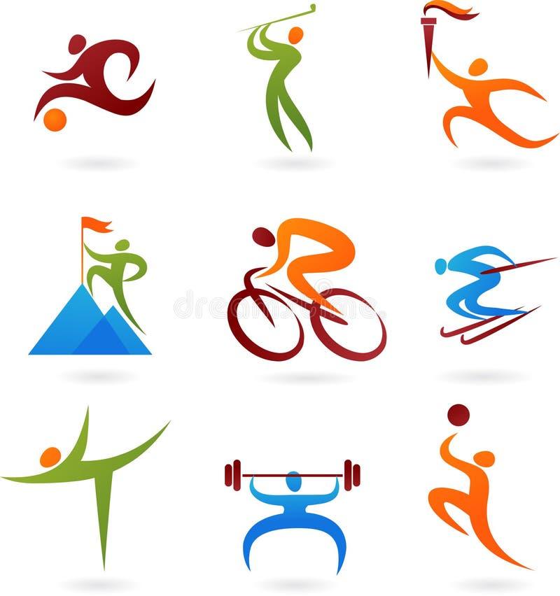 Het pictograminzameling -4 van sporten royalty-vrije illustratie