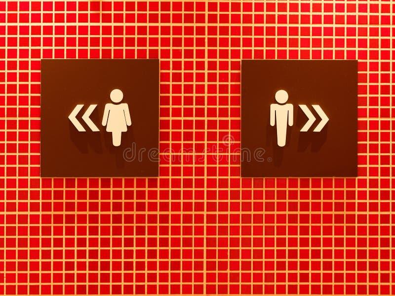 Het pictogrammannen van het toilettoilet vrouwen stock afbeeldingen