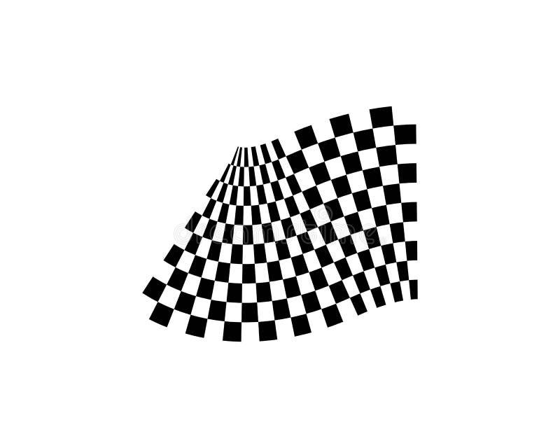 Het pictogramontwerp van de rasvlag royalty-vrije illustratie