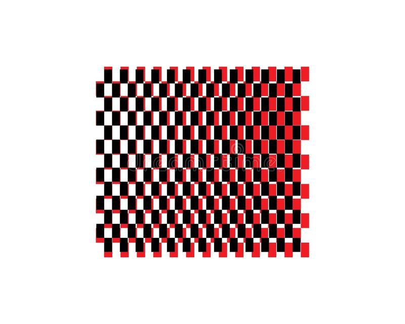 Het pictogramontwerp van de rasvlag stock illustratie