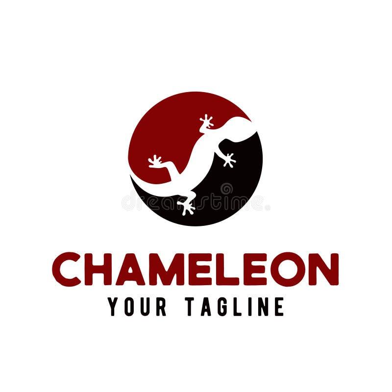 Het pictogramontwerp van het kameleonembleem vector illustratie