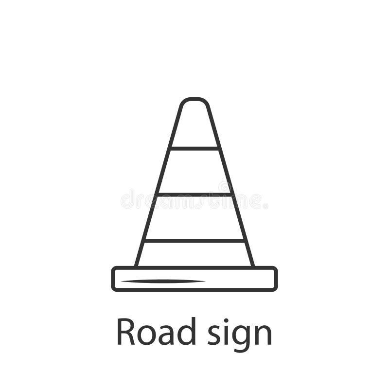Het het pictogrampictogram van de verkeerskegel Eenvoudige elementenillustratie Het ontwerp van het het pictogramsymbool van de v stock illustratie