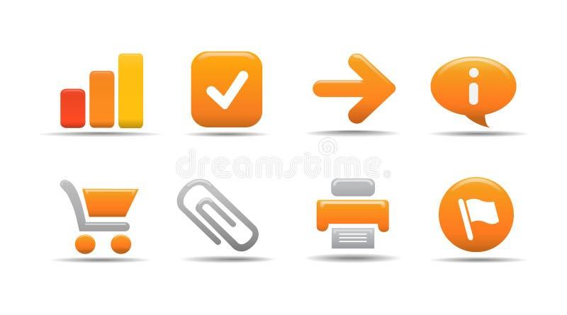 Het pictogramreeks 1 van het Web  De reeks van de pompoen vector illustratie