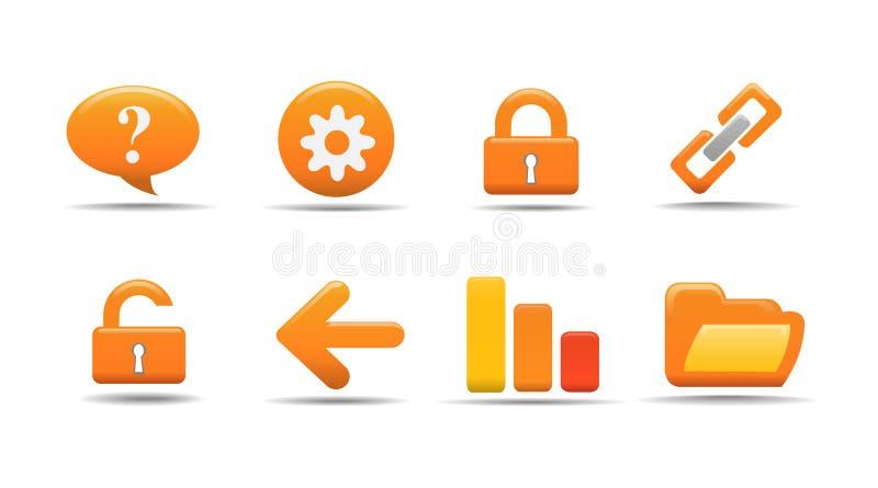 Het pictogramreeks 2 van het Web| De reeks van de pompoen stock illustratie