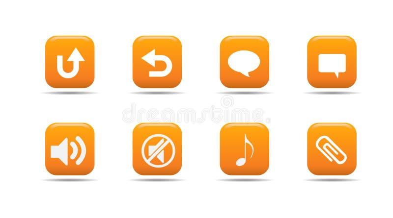 Het pictogramreeks 6 van het Web| De reeks van de abrikoos stock illustratie