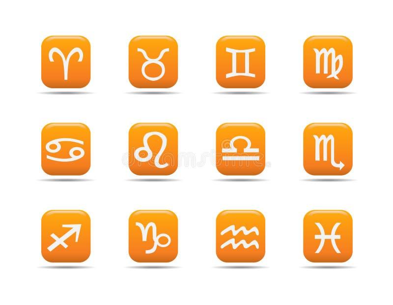 Het pictogramreeks 8 van het Web| De reeks van de abrikoos stock illustratie