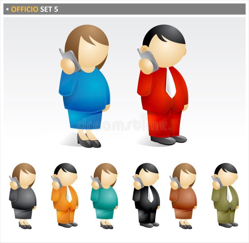 Het pictogramreeks van Businesspeople royalty-vrije illustratie
