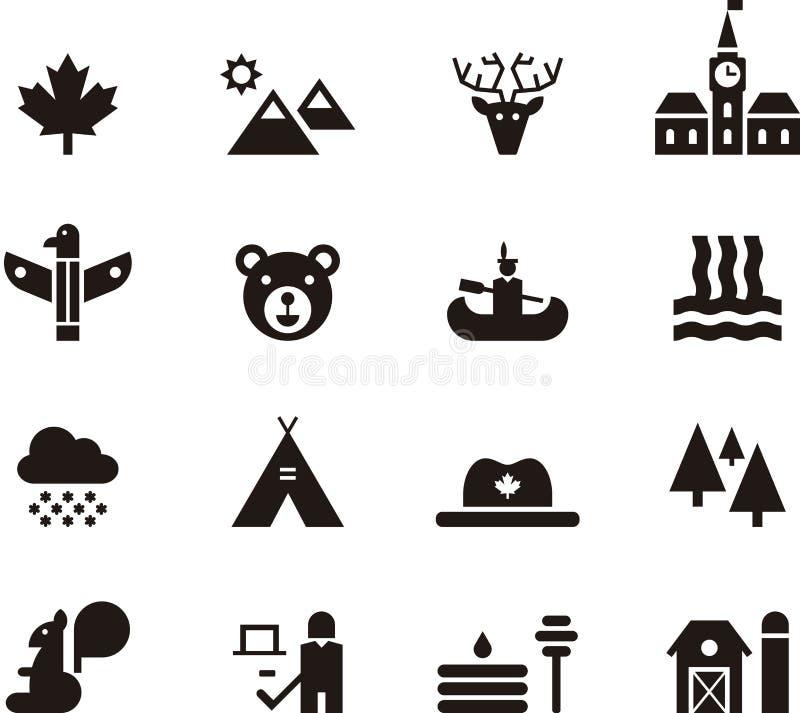 Het pictogramreeks van Canada royalty-vrije illustratie