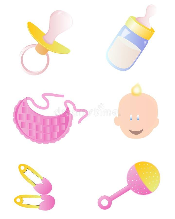 Het pictogramreeks van de baby royalty-vrije illustratie