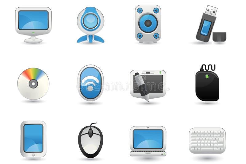 Het pictogramreeks van de computer royalty-vrije illustratie