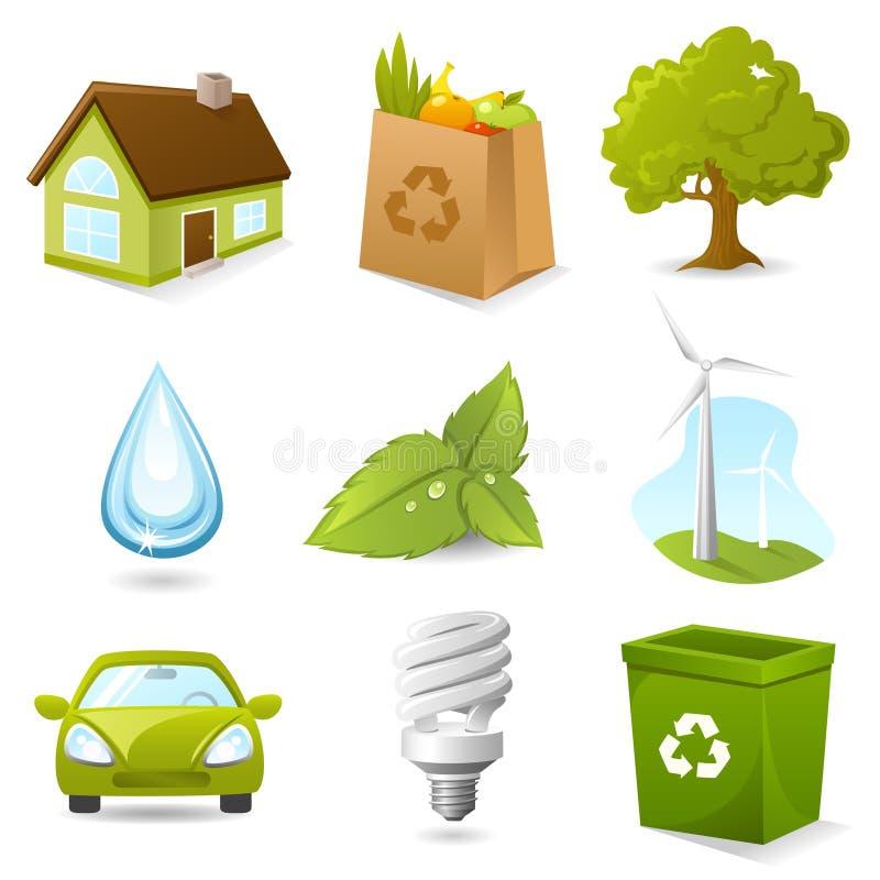 Het pictogramreeks van de ecologie