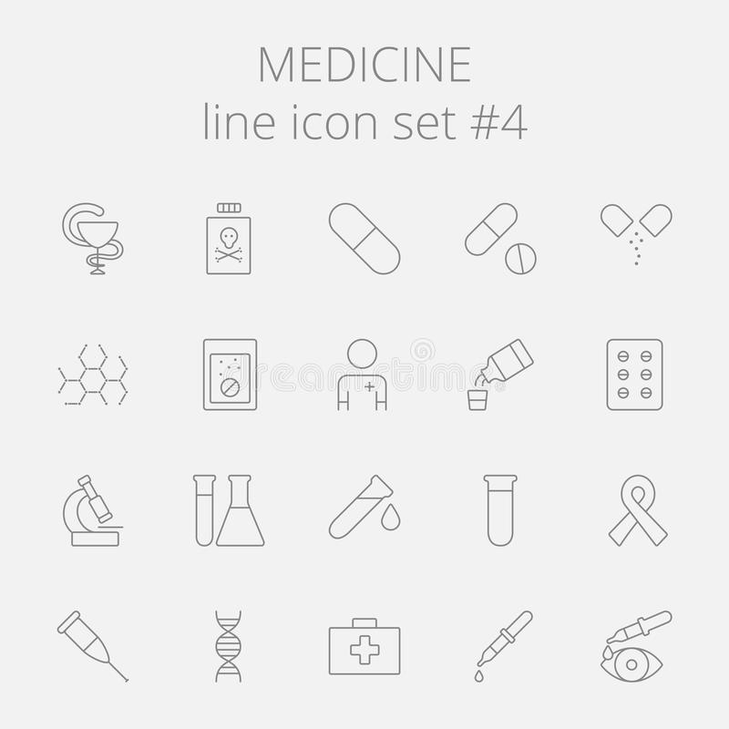Het pictogramreeks van de geneeskunde vector illustratie