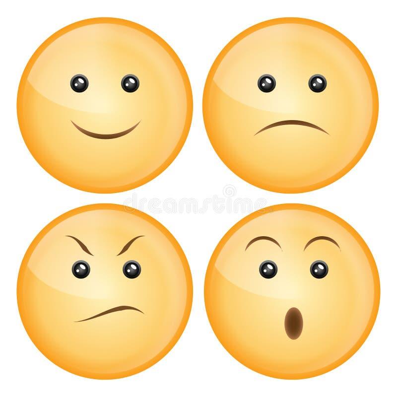 Het pictogramreeks van de glimlach stock illustratie