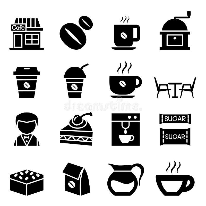 Het pictogramreeks van de koffiewinkel vector illustratie