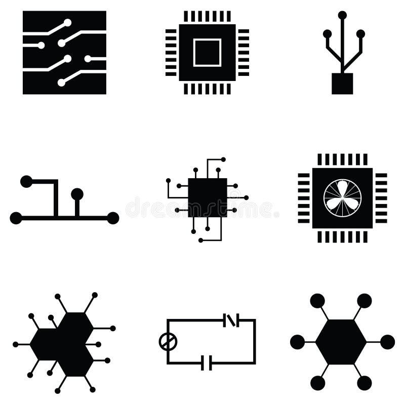 Het pictogramreeks van de kringsraad vector illustratie