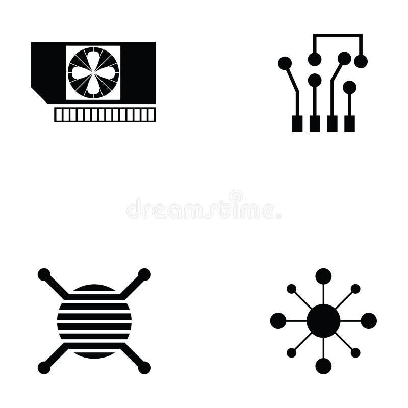 Het pictogramreeks van de kringsraad royalty-vrije illustratie