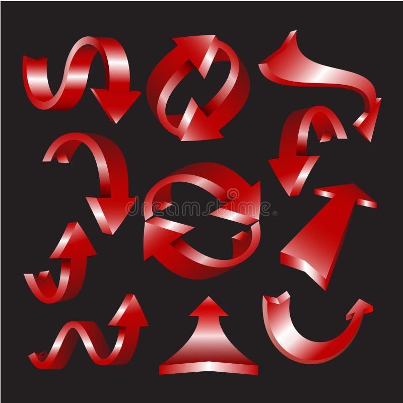 Het pictogramreeks van de pijl vector illustratie