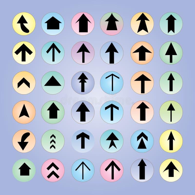 Het pictogramreeks van de pijl Het ontwerp van de pijl pijl stock illustratie