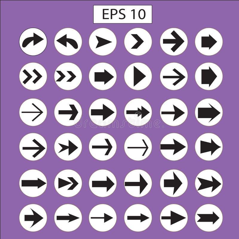 Het pictogramreeks van de pijl Het ontwerp van de pijl pijl vector illustratie