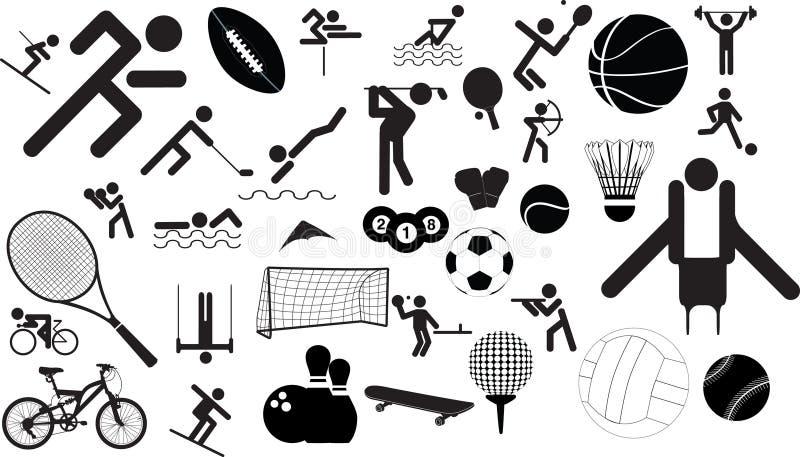 Het pictogramreeks van de sport stock illustratie