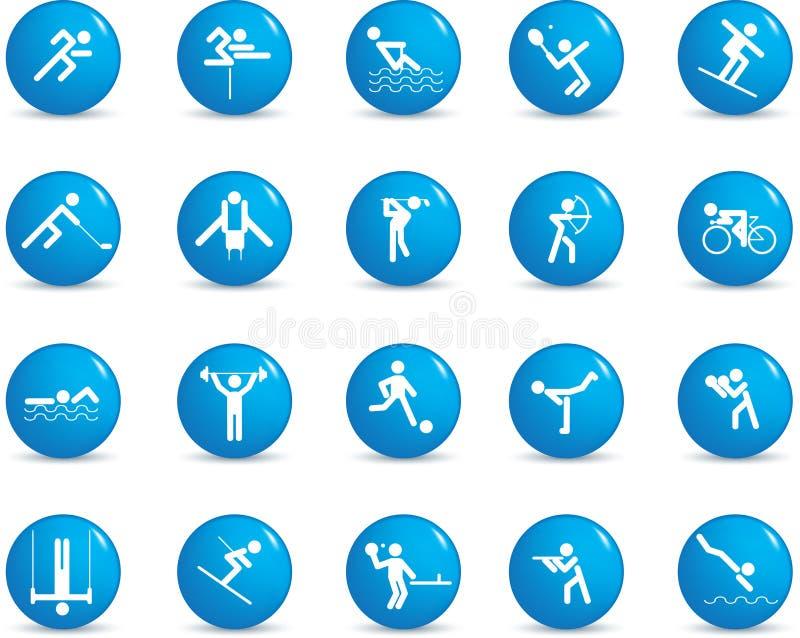 Het pictogramreeks van de sport vector illustratie