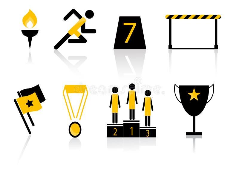 Het Pictogramreeks van de sportvergadering vector illustratie