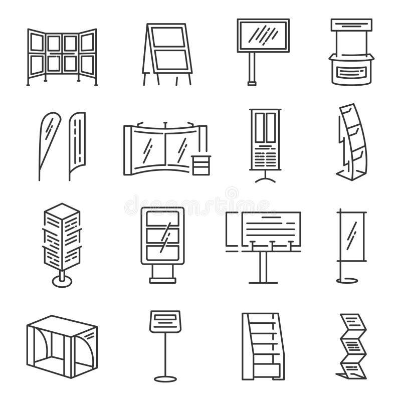 Het pictogramreeks van de tentoonstellingstribune stock illustratie